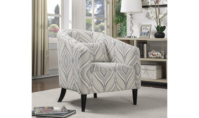 ACCENT CHAIR (OFF WHITE/BLUE/GREY)-Jennifer Furniture