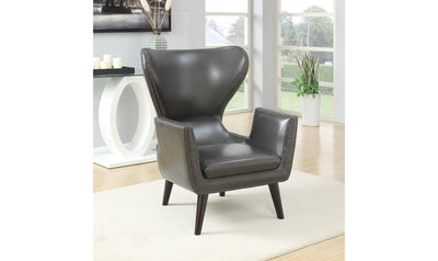ACCENT CHAIR (CHARCOAL)-Jennifer Furniture