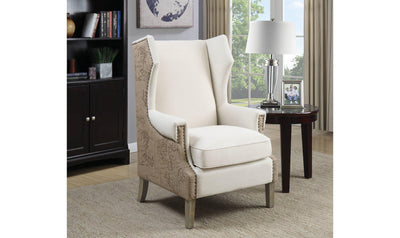 ACCENT CHAIR (CREAM/BEIGE)-Jennifer Furniture