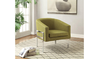ACCENT CHAIR (GREEN)-Jennifer Furniture