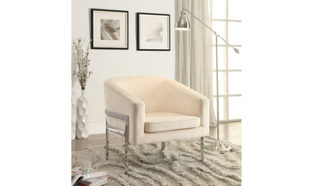 ACCENT CHAIR (CREAM)-Jennifer Furniture