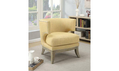 ACCENT CHAIR (BUMBLEBEE YELLOW)-Jennifer Furniture