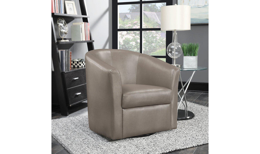 PASSOV SWIVEL CHAIR (CHAMPAGNE)-Jennifer Furniture