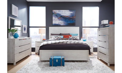 11 West Panel Bed w/Bench Storage Footboard, CA King 6/0-beds-Legacy Classic Furniture-Jennifer Furniture