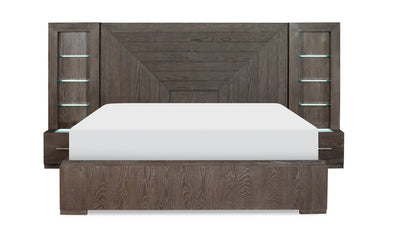 Facets Wall Panel Bed-beds-Legacy Classic Furniture-Queen-Jennifer Furniture