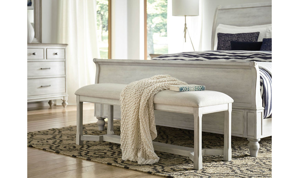 LITCHFIELD CLAYTON UPHOLSTERED BENCH