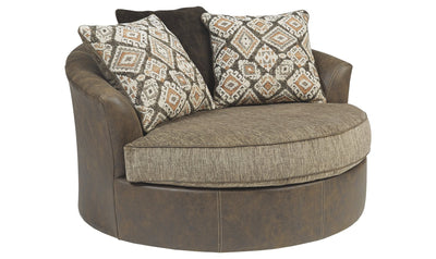 Abalone Oversized Swivel Accent Chair-swivel chairs-Ashley-Jennifer Furniture