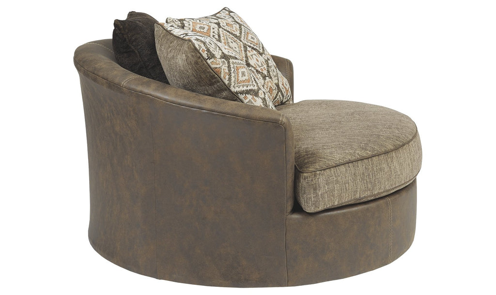 Abalone Oversized Swivel Accent Chair