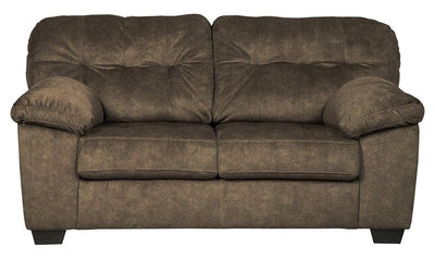 Accrington Loveseat-loveseats-Ashley-Brown-Jennifer Furniture