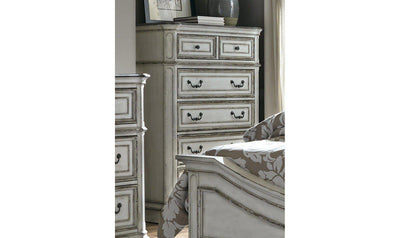 Magnolia Manor 5 Drawer Chest-Jennifer Furniture