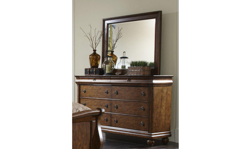 Rustic Traditions Dresser & Mirror-Jennifer Furniture