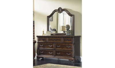 Highland Court Dresser & Mirror-Jennifer Furniture