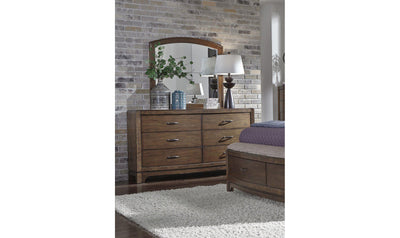 Avalon III Dresser & Mirror-Jennifer Furniture
