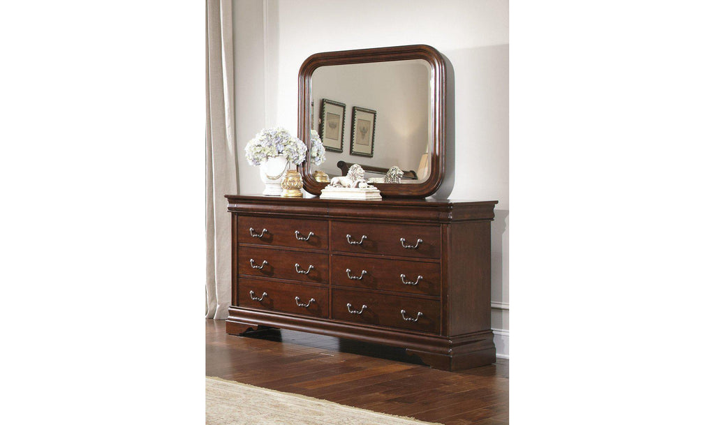 Carriage Court Dresser & Mirror-Jennifer Furniture