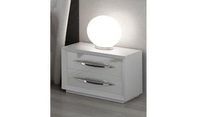 Carmen White Nightstand-nightstands-ESF-Low-White-Jennifer Furniture