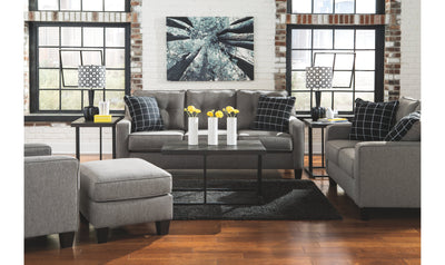 Brindon Living Room Set-living room sets-Ashley-Queen Sofa Bed-Sofa + Loveseat + Chair + Ottoman-Jennifer Furniture