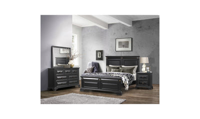 Gloriann Bed-beds-Global-Full-Black-Jennifer Furniture