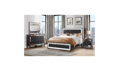 Gracella Bed-beds-Global-Full-Black-Jennifer Furniture