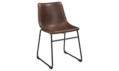 Centiar Dining Upholstered Side Chair (Pair)-side chairs-Ashley-Brown-Jennifer Furniture