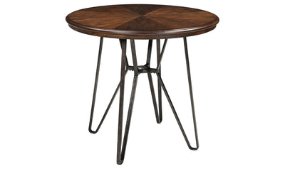 Centiar Round Dining Room Counter Table-counter tables-Ashley-Brown-Jennifer Furniture