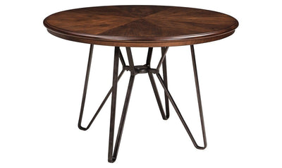 Centiar Round Dining Room Table-dining tables-Ashley-Brown-Jennifer Furniture