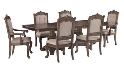Charmond Dining Set-dining sets-Ashley-Table + 4 Side Chairs + 2 Arm Chairs-None-Jennifer Furniture
