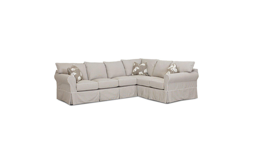 Jenny 2-Piece Slipcover Sectional-Jennifer Furniture