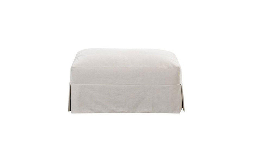 Melissa Slipcover Ottoman-Jennifer Furniture