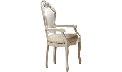Leonardo Arm Chair-arm chairs-ESF-White-Jennifer Furniture