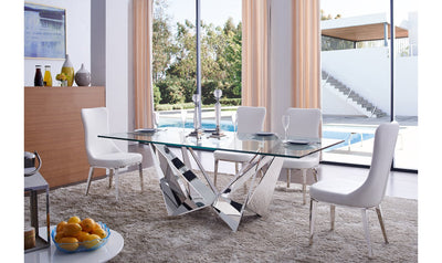 Arabella Dining Table-dining tables-ESF-Silver-Jennifer Furniture