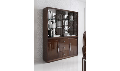 Carmen China Cabinet-chinas-ESF-4 Door-Walnut Brown-Jennifer Furniture