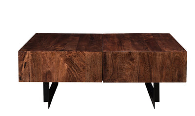 Glide coffee tables with sliding top, Walnut-coffee tables-Modarte-Jennifer Furniture
