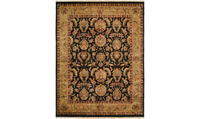 Jaipura Rug-rugs-Kalaty-8' x 8'-Black-Jennifer Furniture