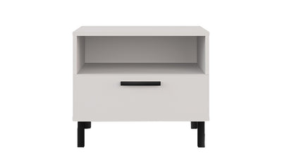 Lyon White Nightstand-Nightstands-Modarte-Jennifer Furniture