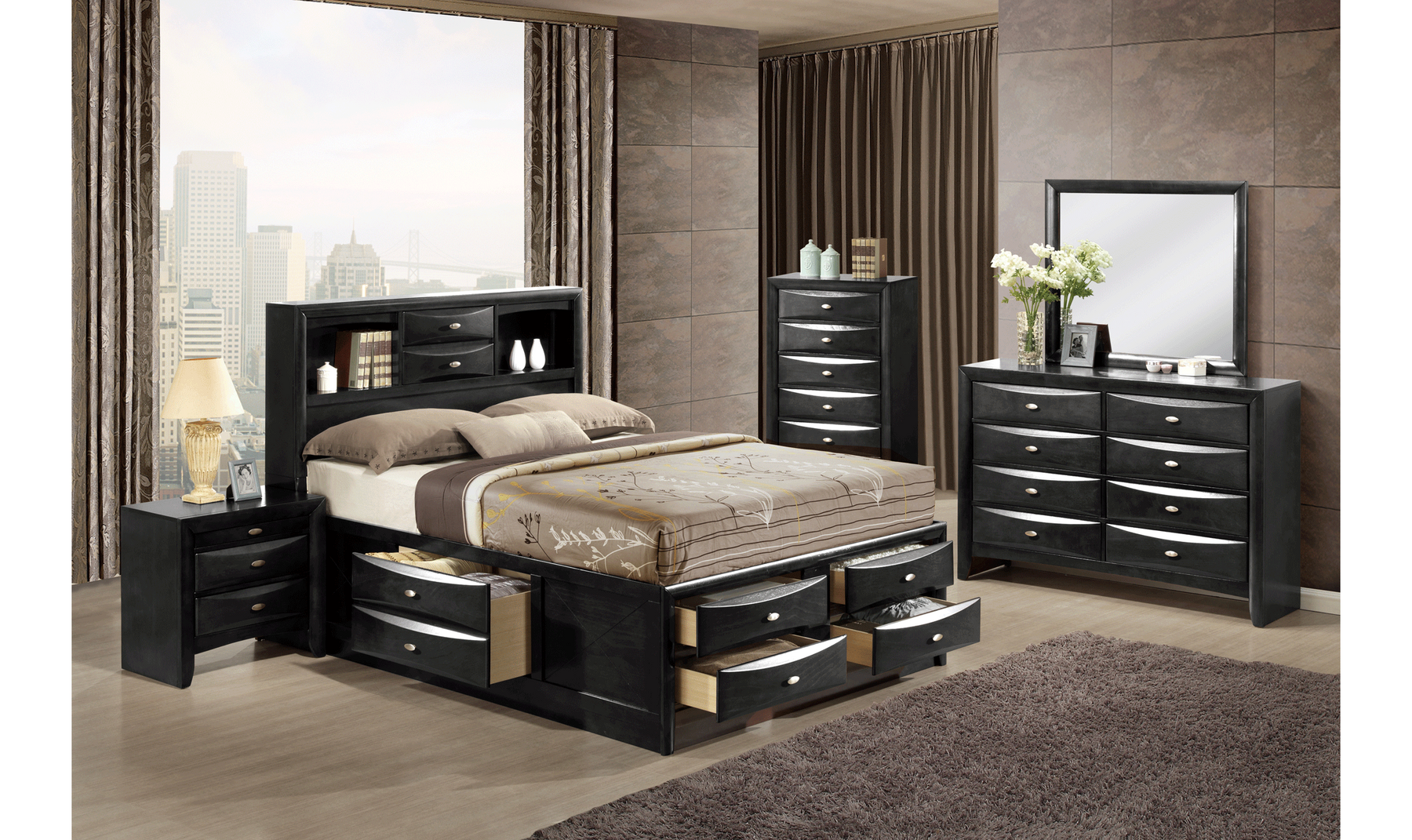 Linda Bedroom Set Jennifer Furniture