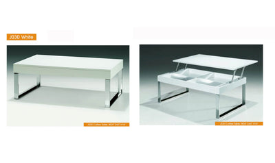 J030 Coffee Table-coffee tables-ESF-White-Jennifer Furniture