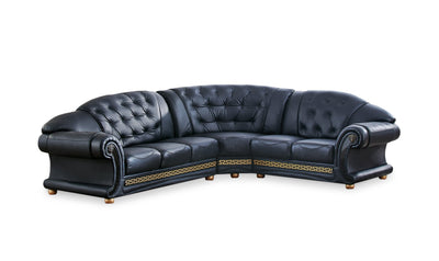 Apolo Sectional-sectionals-ESF-Left-Arm Facing-Black-Jennifer Furniture