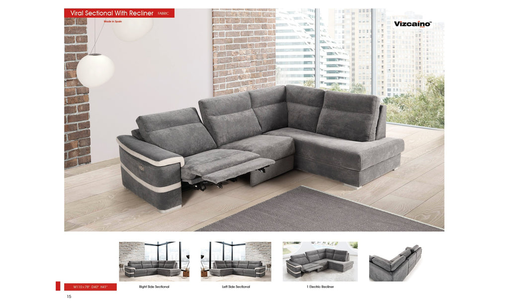 Viral Sectional with Recliner
