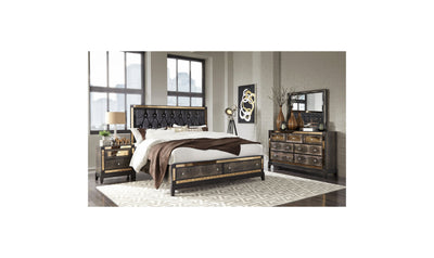 Gage Bed-beds-Global-Full-Chocolate Brown-Jennifer Furniture