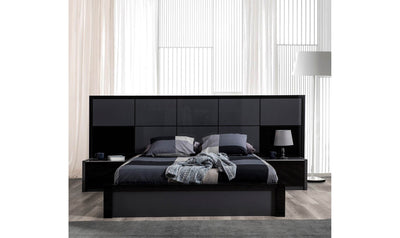 Milan Bed Grey & Black-Beds-Modarte-Queen-Jennifer Furniture