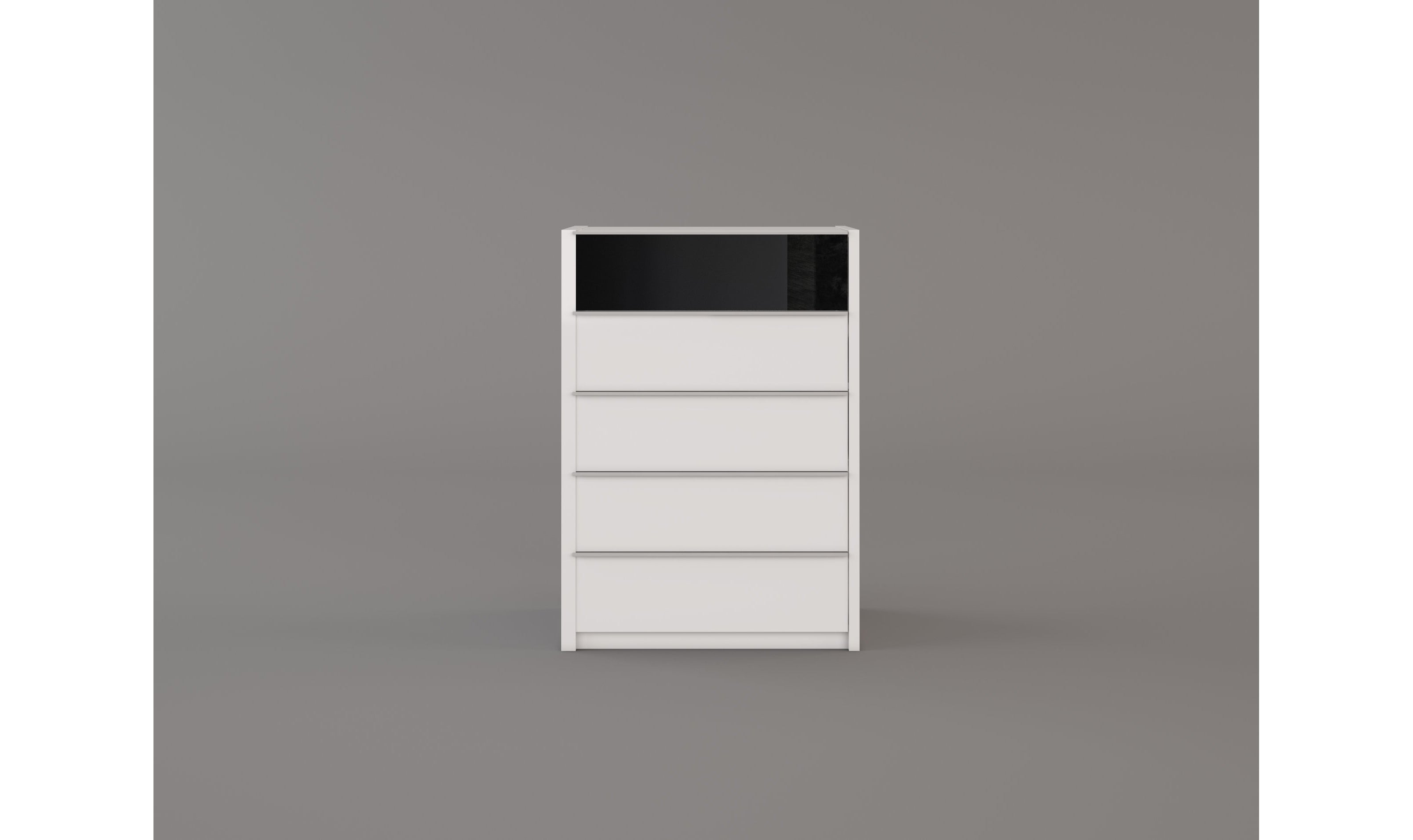 Milan 5-Drawer Chest, Antracite White