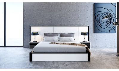 Milan Bed Antracite White-Beds-Modarte-Queen-Jennifer Furniture