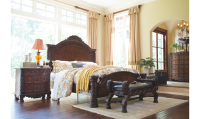 North Shore Bedroom Set-bedroom sets-Ashley-Queen-Dresser + Mirror + Nightstand-Jennifer Furniture