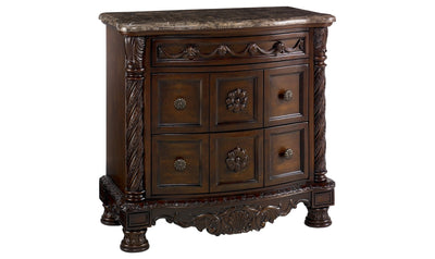 North Shore Nightstand-nightstands-Ashley-Dark Brown-Jennifer Furniture