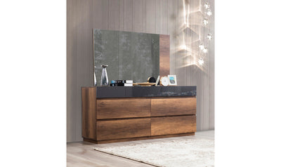 Opal Dresser & Mirror, Walnut-Dressers-Modarte-Jennifer Furniture