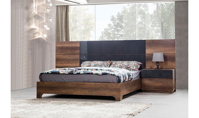 Opal Bed Long Walnut-Beds-Modarte-Queen-Jennifer Furniture