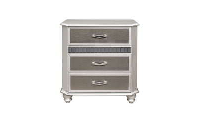 Gatlin Nightstand-nightstands-Global-Silver-Jennifer Furniture