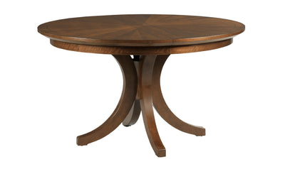 VANTAGE WARNER ROUND DINING TABLE COMPLETE-dining tables-American Drew-Jennifer Furniture