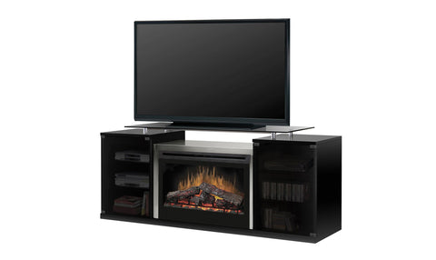Max Media Cabinet with Firebox