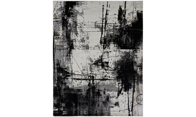 "Solstice Rug-rugs-Kalaty-9'6"" x 13'-Black-Jennifer Furniture"